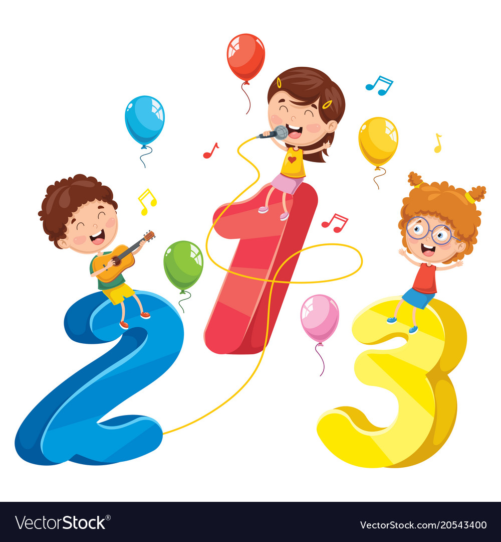 math kids royalty free vector image - vectorstock