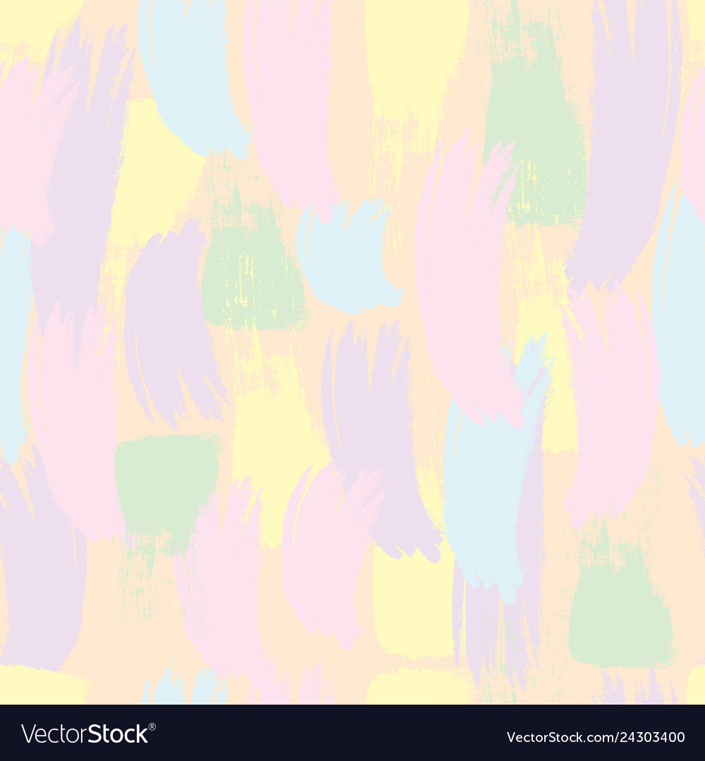 Seamless Pattern Pastel Brush Strokes Royalty Free Vector