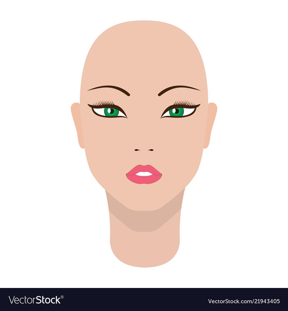 A beautiful dummy girl head