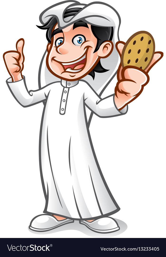 Cartoon arabian kid