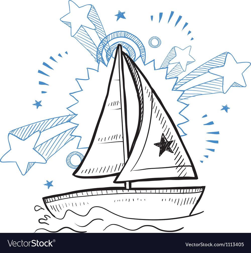 Doodle pop sailboat