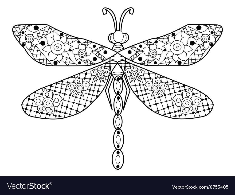 Dragonfly Coloring For Adults