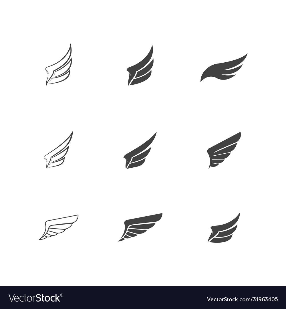 Falcon wing icon template