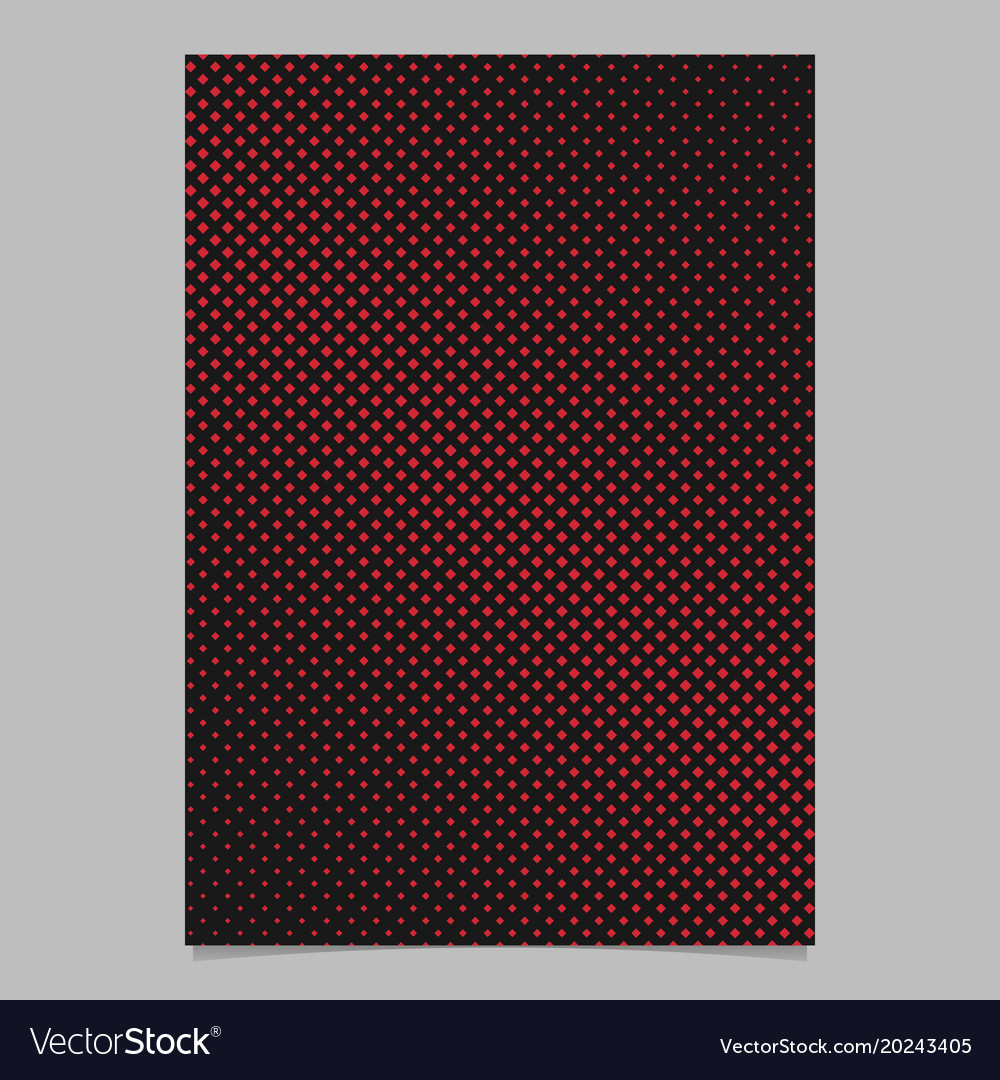 Halftone square pattern background page design vector image