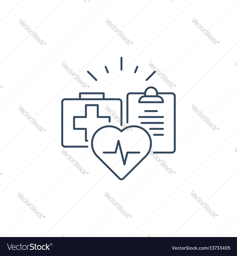 Health care services thin line icon medical