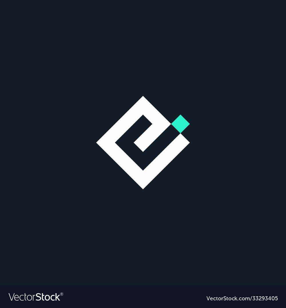Initial logo ej geometric monogram