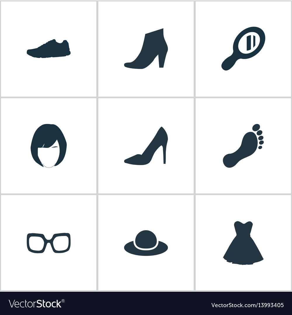 Set of simple clothes icons