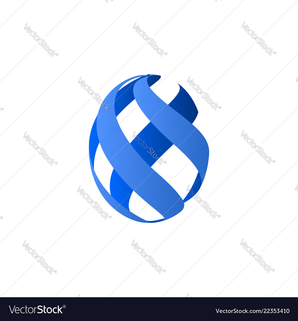 Abstract shape ribbons icon