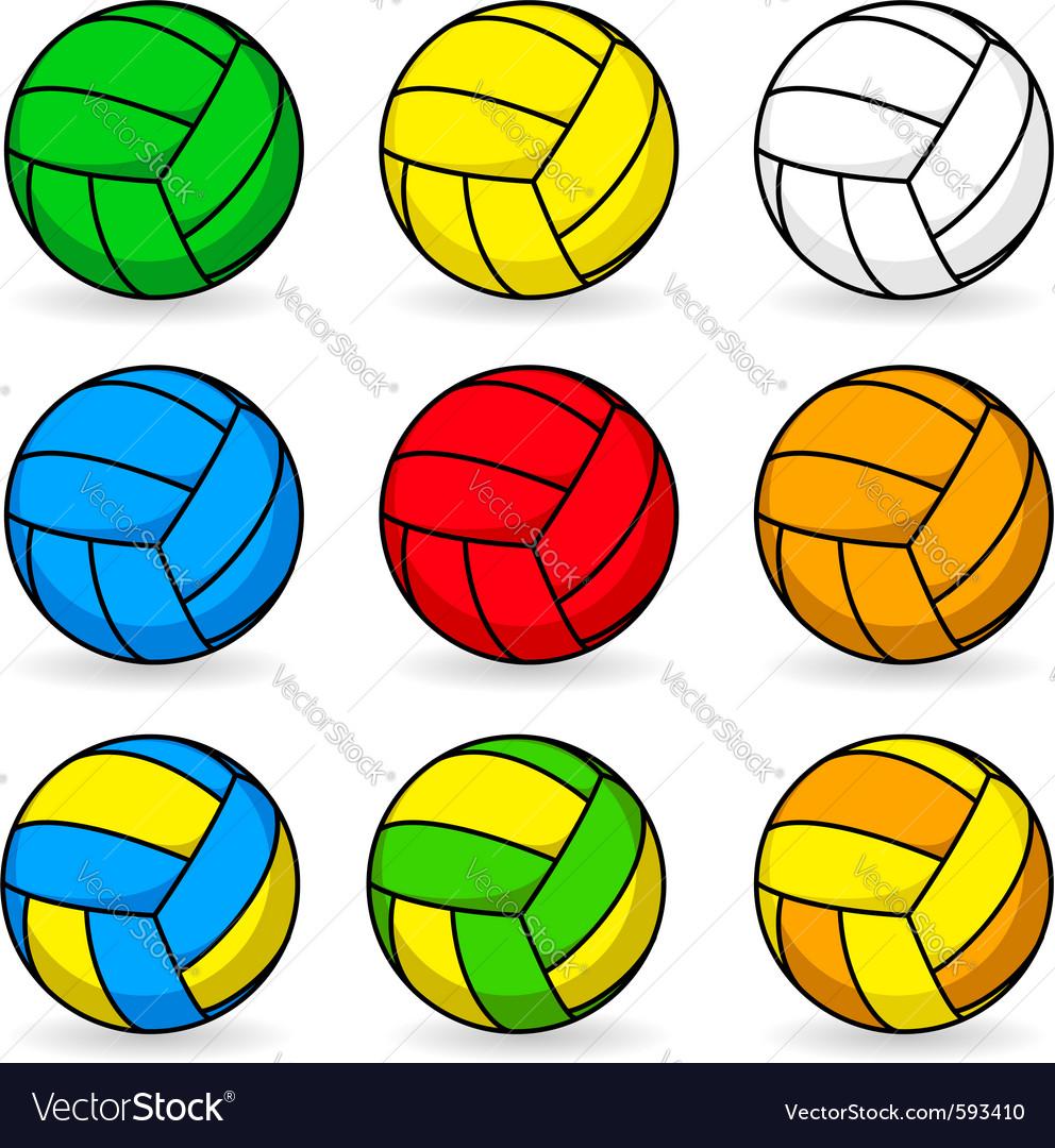 Cartoon volleyball Royalty Free Vector Image - VectorStock