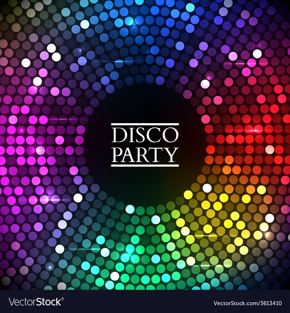 Colorful disco lights