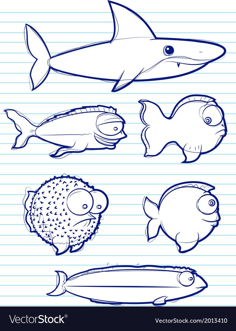 Fish drawn