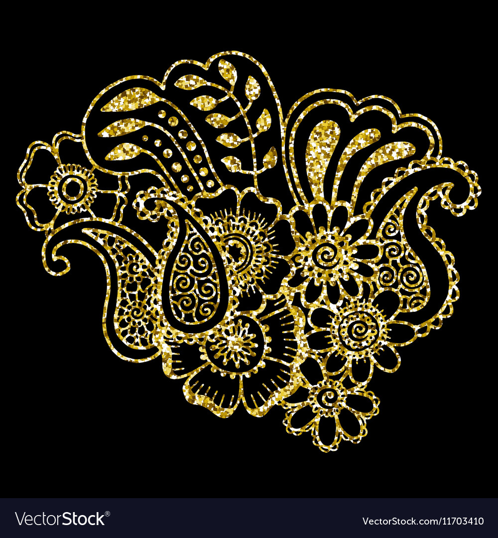 Mehndi design Pattern vector image