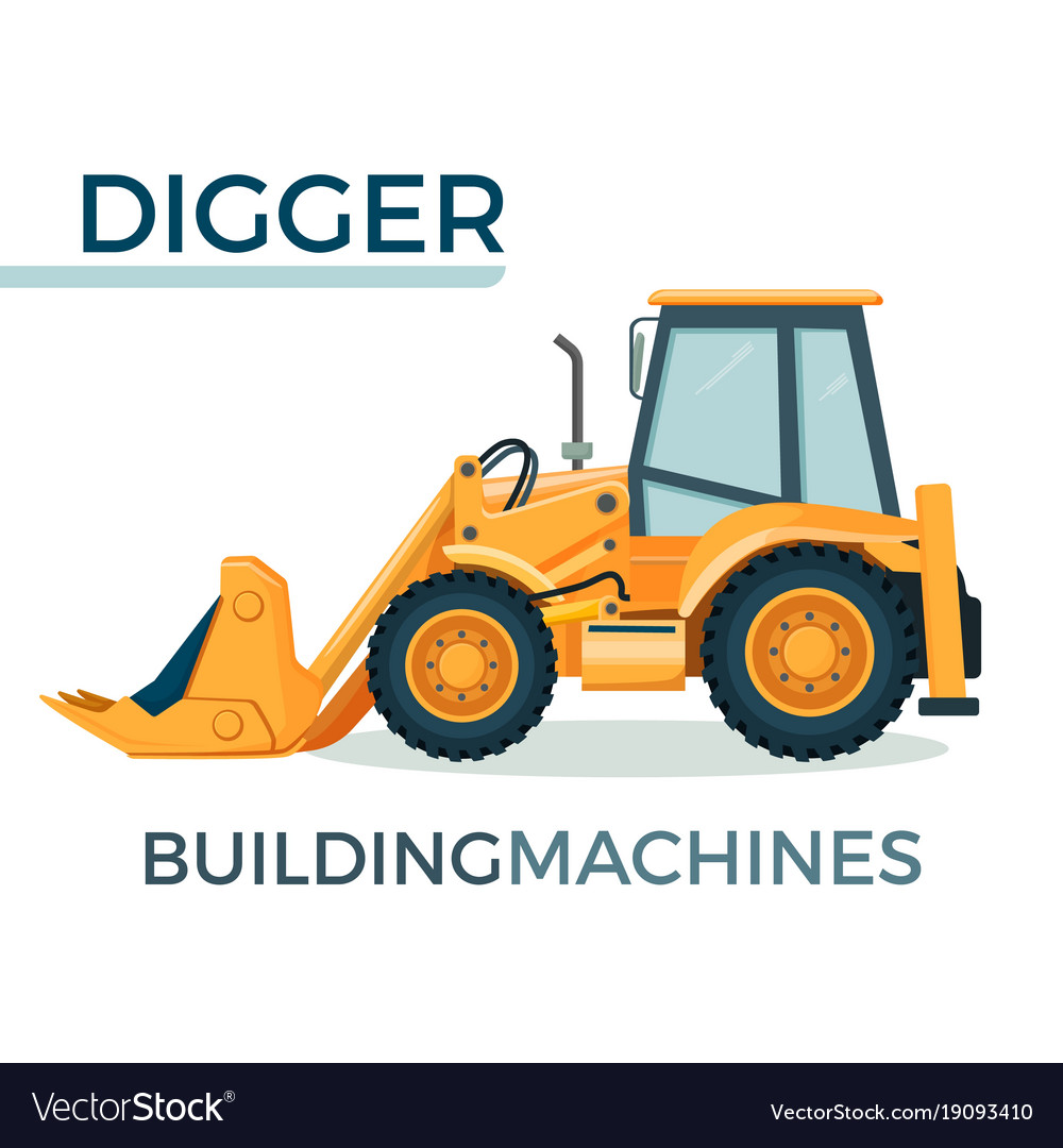 Modern solid building machine digger with spacious