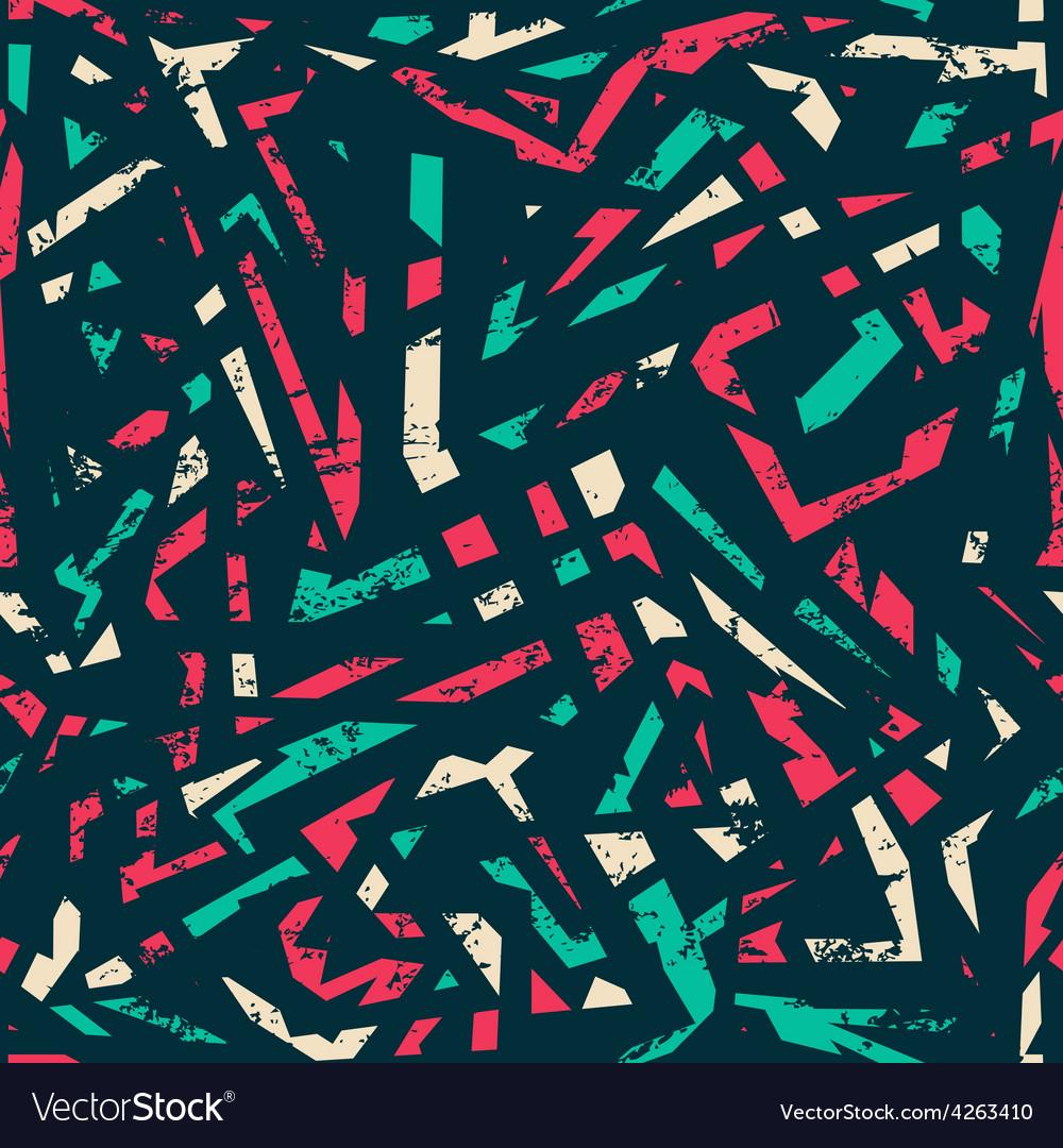 Retro grunge seamless pattern