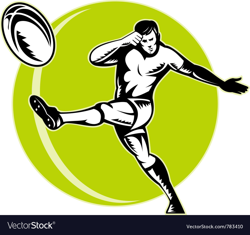 Retro rugby poster vector image