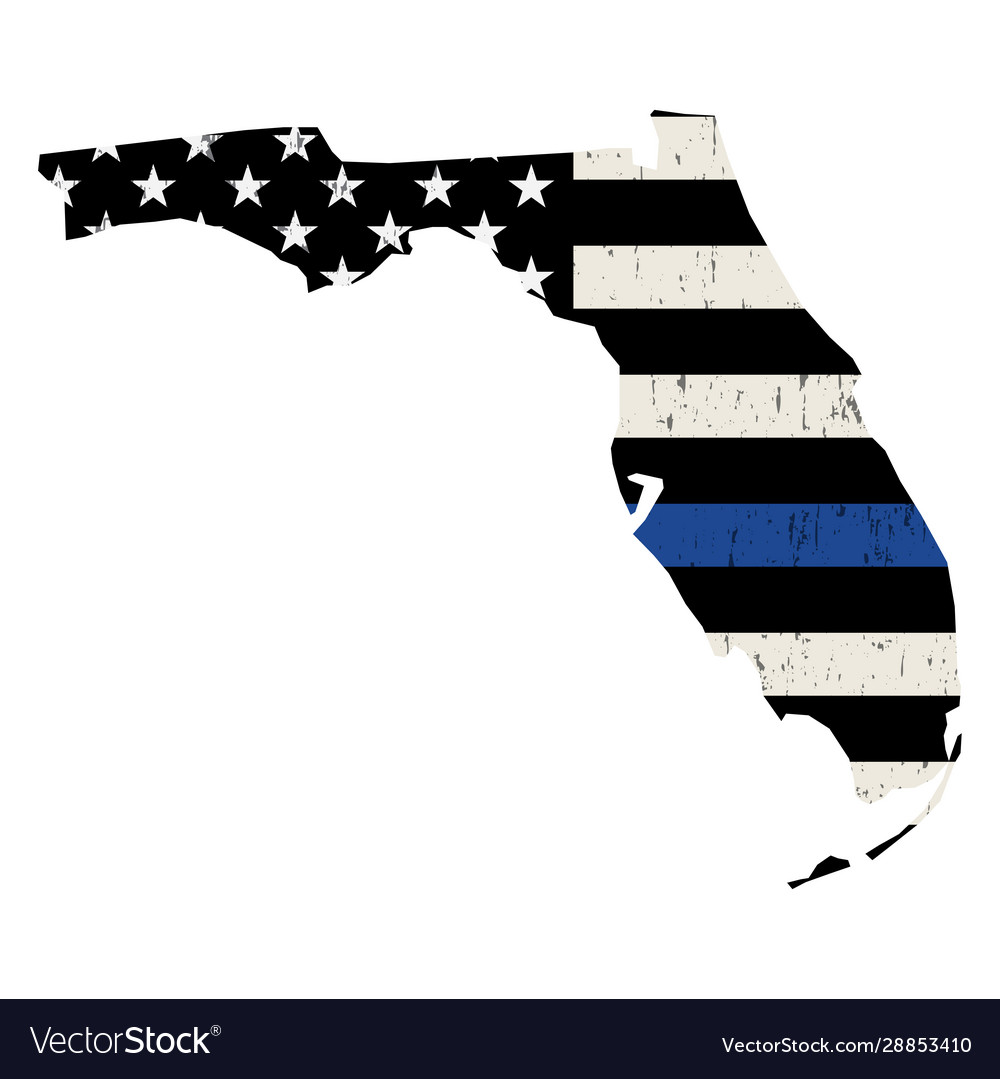 State florida police support flag