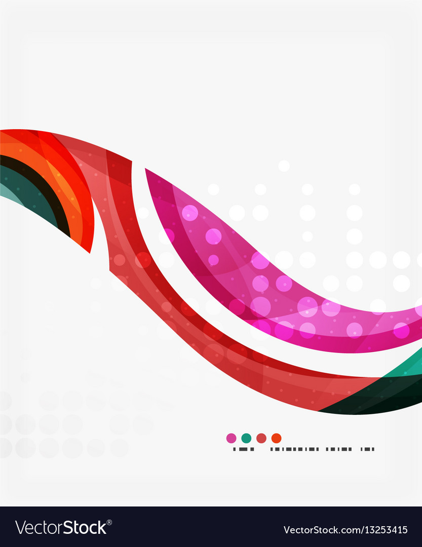Beautiful colorful wave template