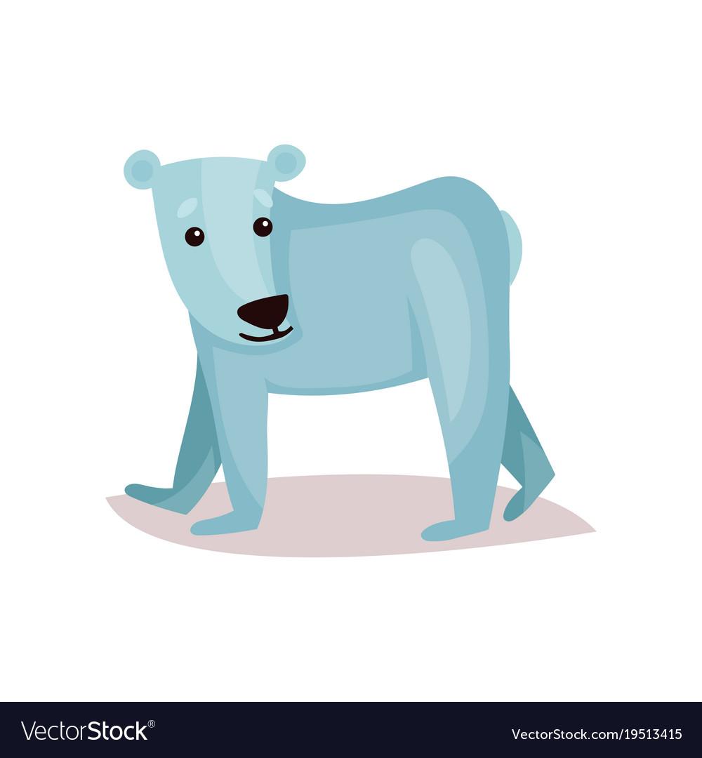 Cute polar bear cub cartoon