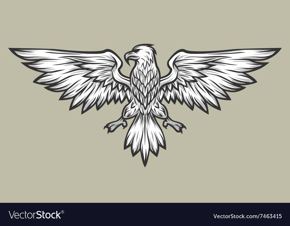 Eagle mascot spread wings Symbol mascot
