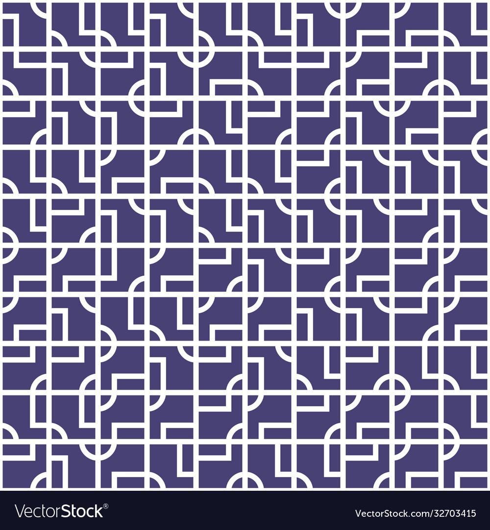 Intricate geometrical tiles seamless pattern