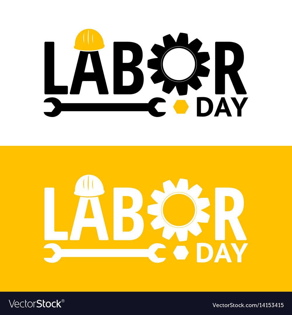 Labor day design elements icon label badge