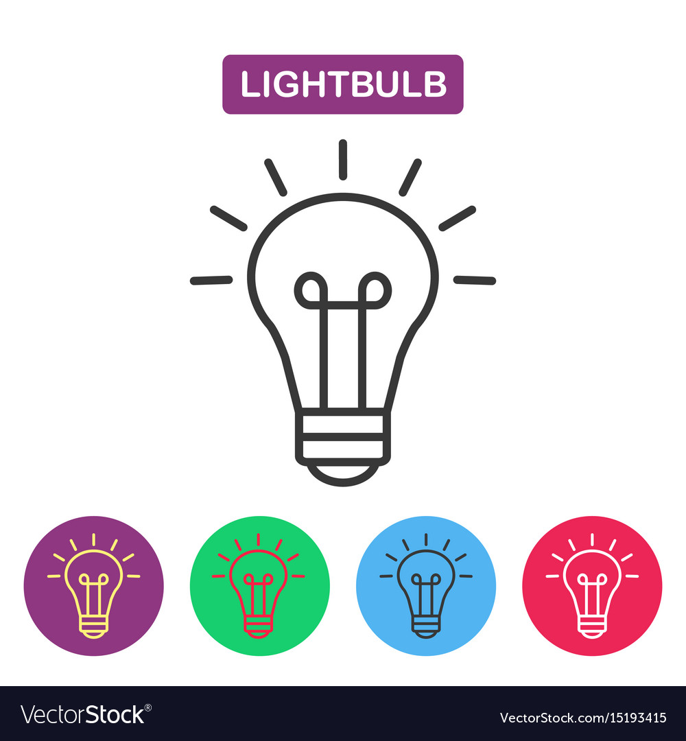 Lightbulb isolated line icon pictograph