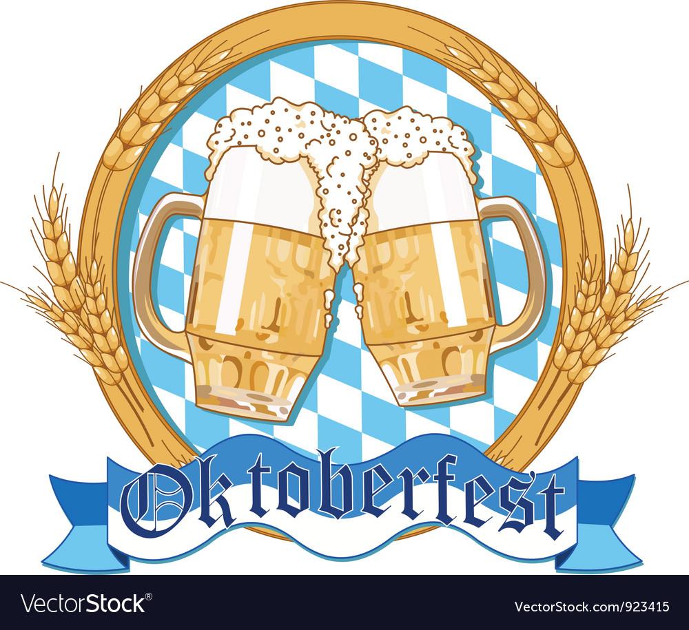 Oktoberfest label design vector image