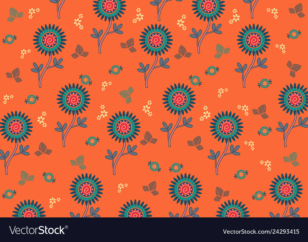 Paisley Pattern Indian Art For Printing On Fabric Vector Image