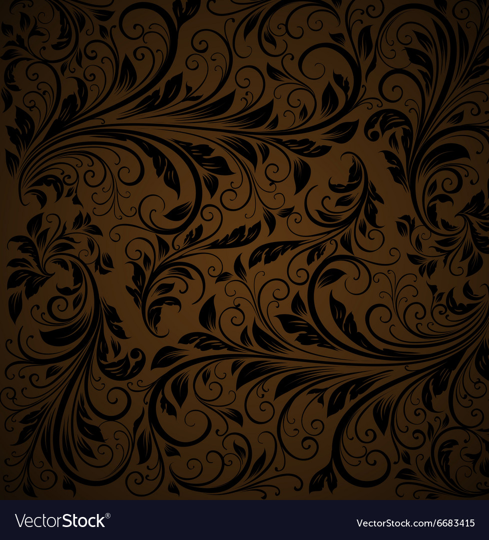 Seamless Brown Floral Background Royalty Free Vector Image
