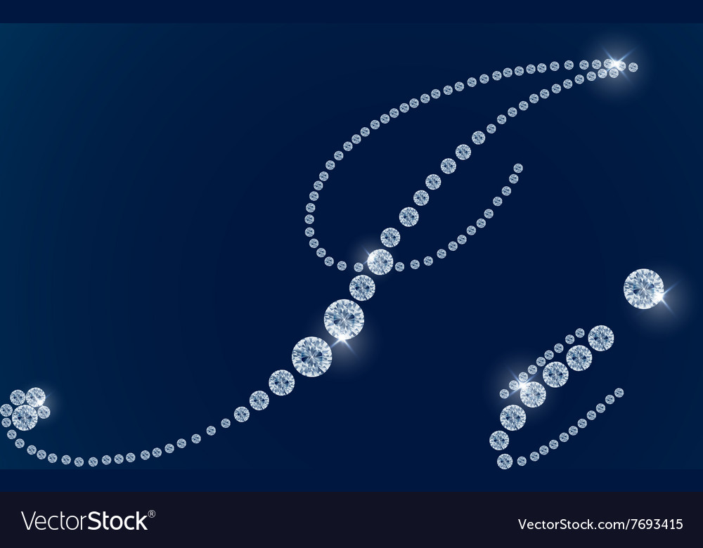 Shiny diamond alphabet letters blue background