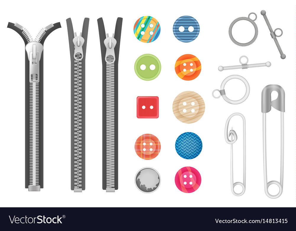 Steel metal zipper and objects for sewing