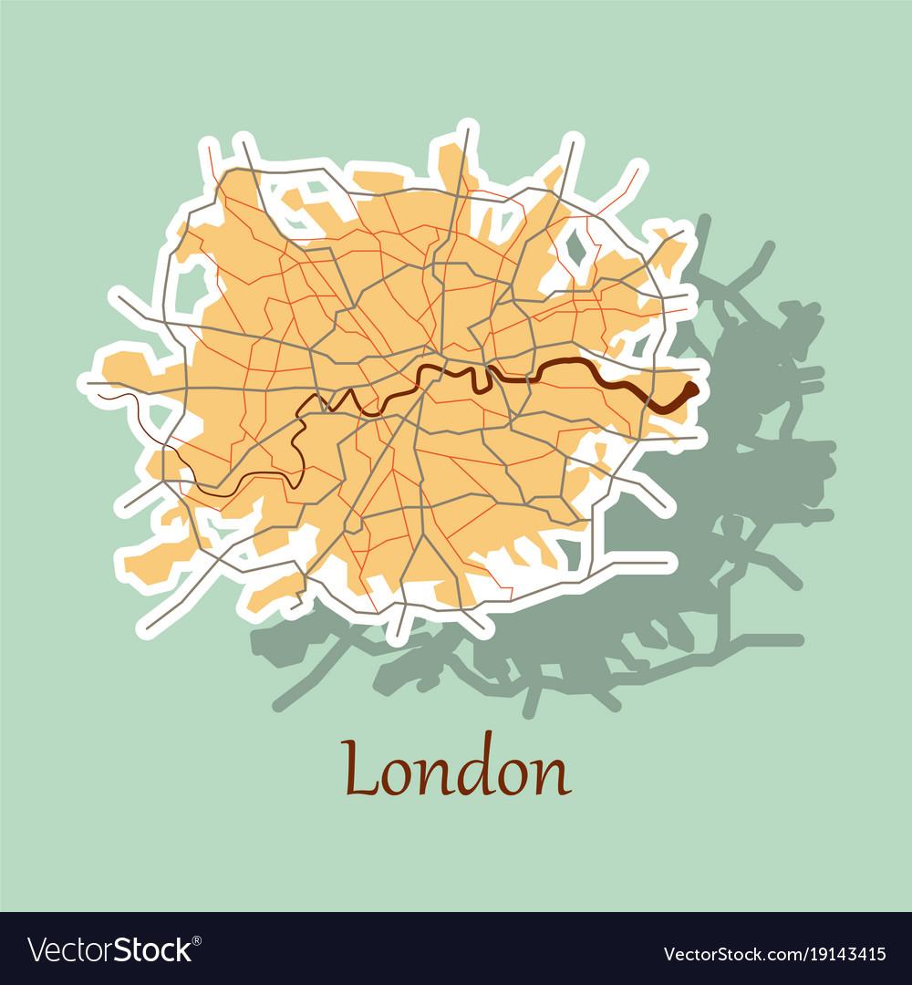 Sticker color map of london united kingdom city