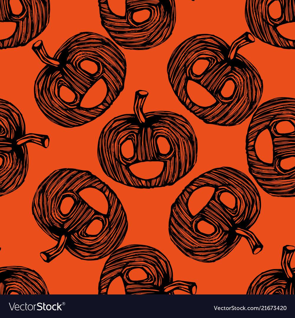 Autumn pumpkin seamless are used in textile design
