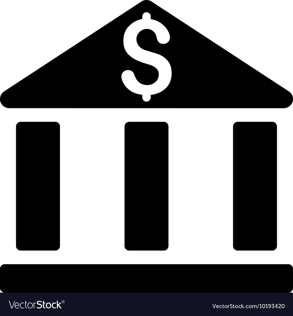 Bank Office Building Flat Icon Royalty Free Vector Image