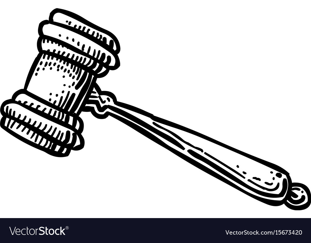 cartoon image of judge gavel icon law symbol vector image rh vectorstock com cartoon gavel pic cartoon gavel images on shutterstock