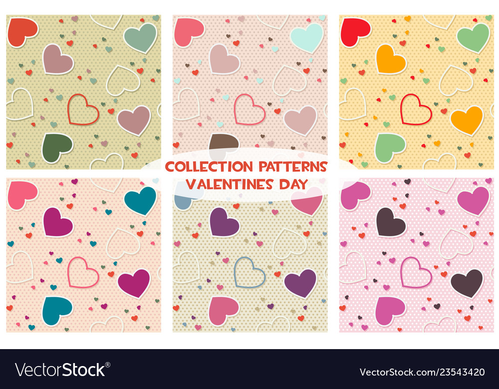Colored seamless pattern background valentine