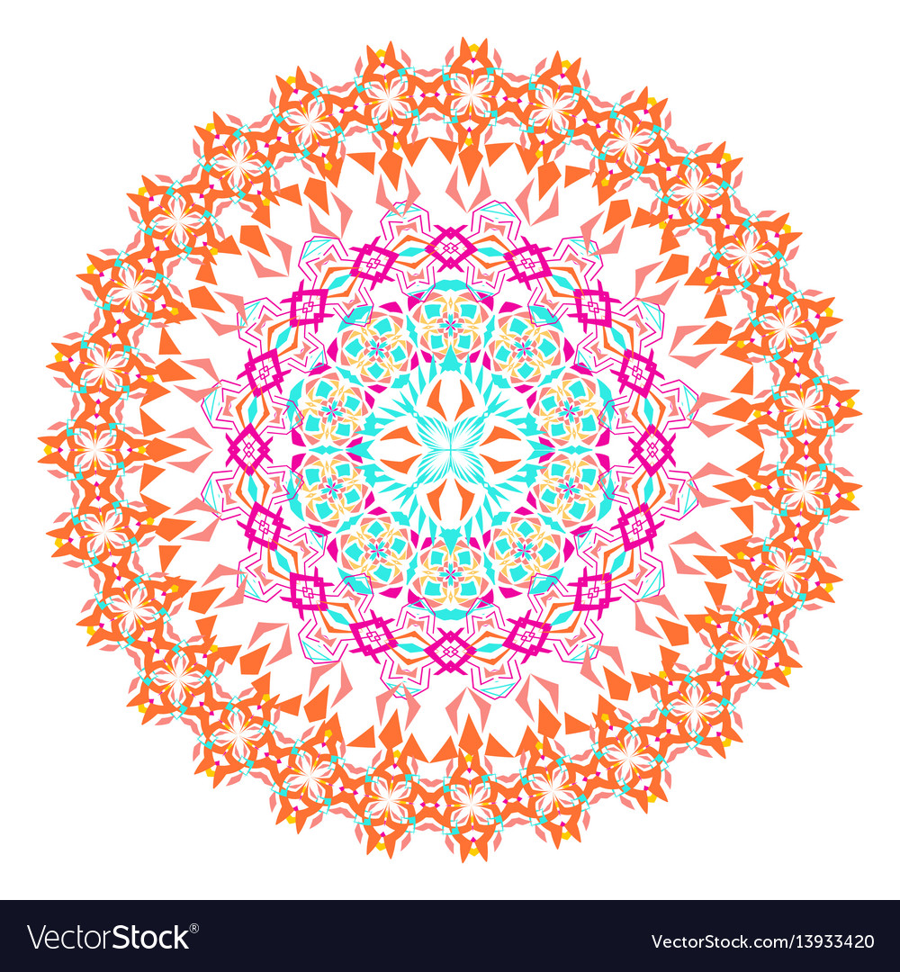 Colorful mosaic mandala vector image