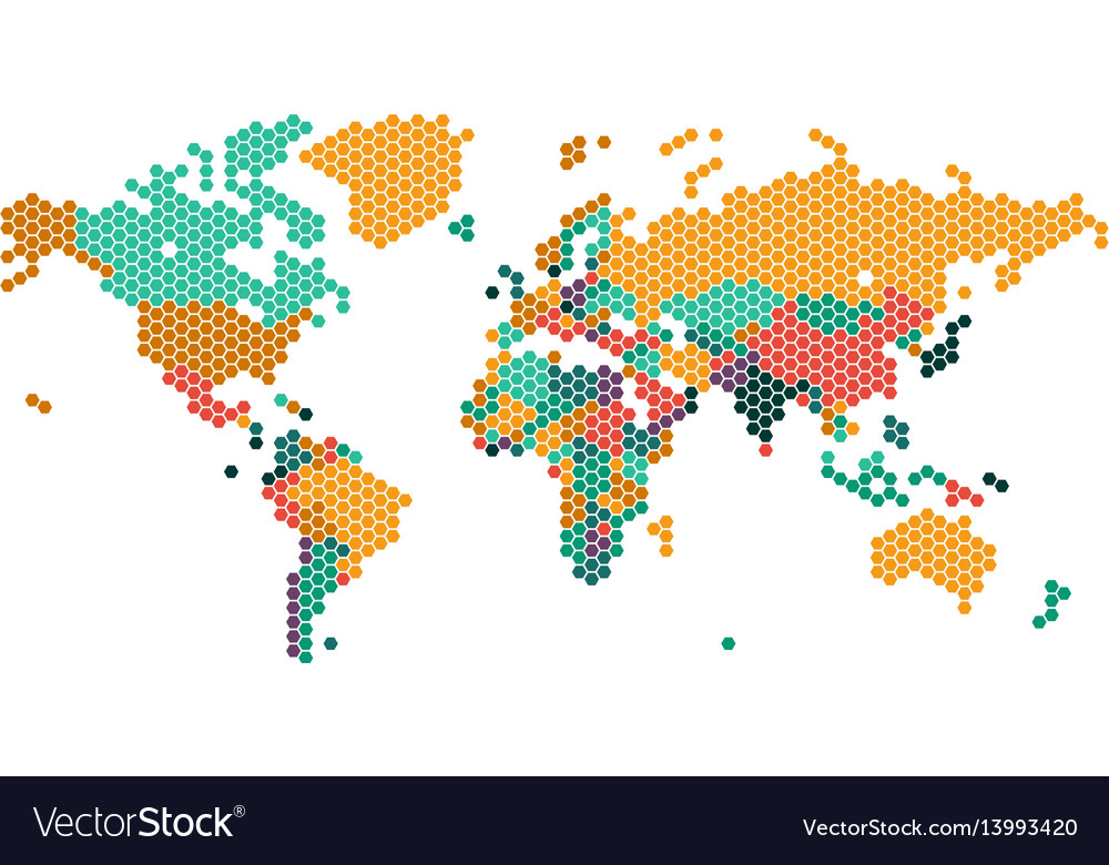 Dotted world map with countries borders royalty free vector dotted world map with countries borders vector image gumiabroncs