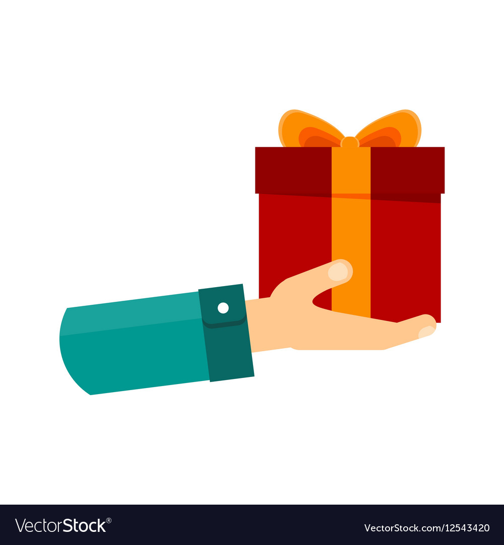 Hand with gift