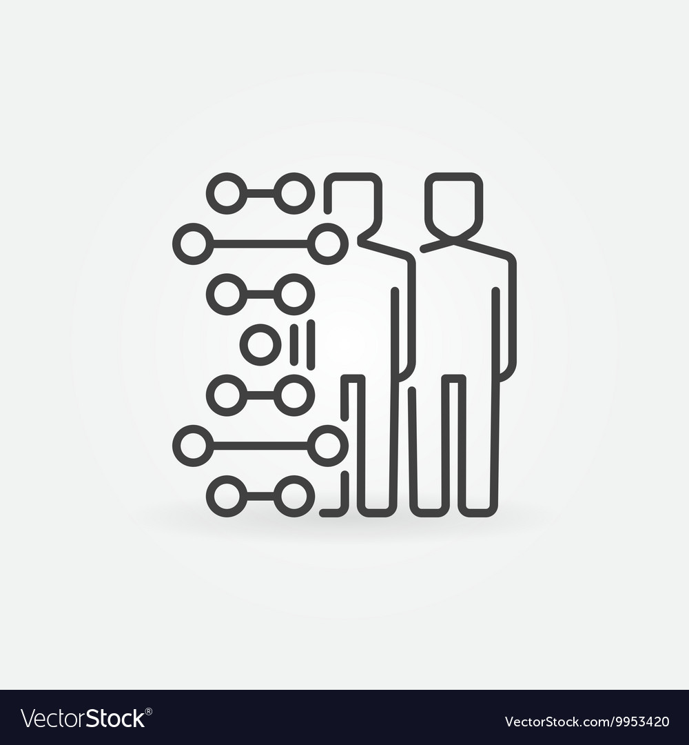 Human cloning icon vector image