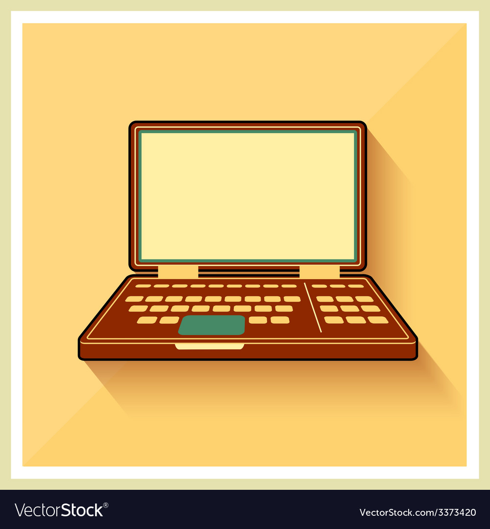 Laptop notebook personal computer flat icon