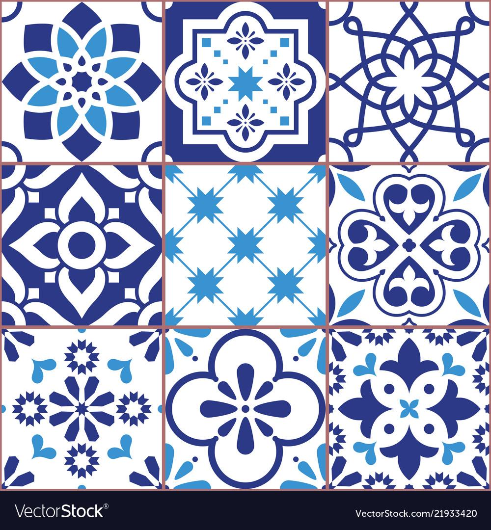 Lisbon tiles design azulejo patttern