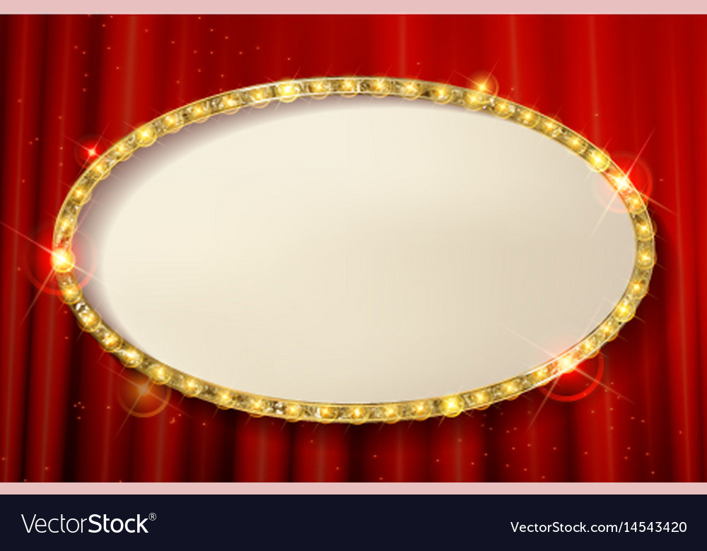 Oval cinema frame vector image