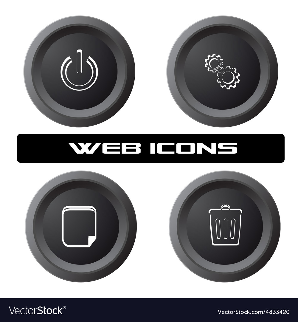 PC icons vector image