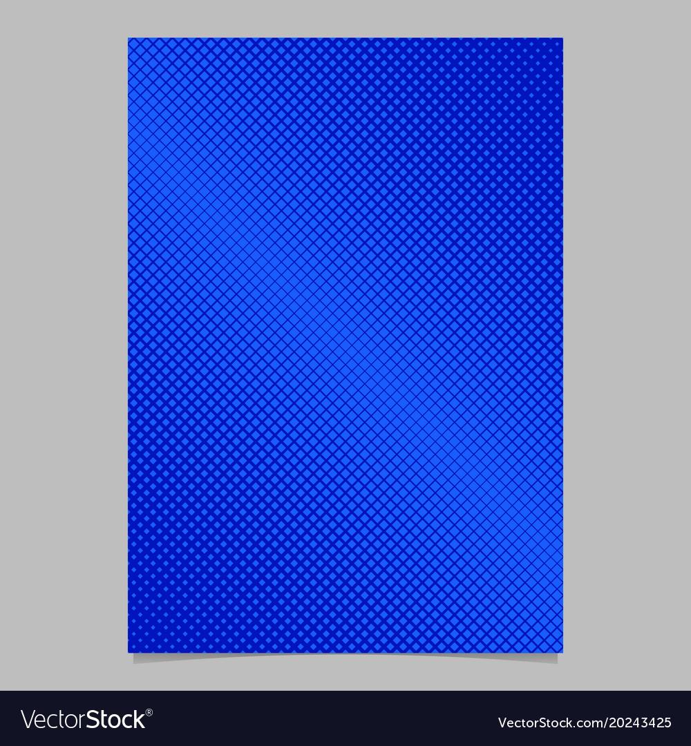 Geometrical halftone diagonal square pattern