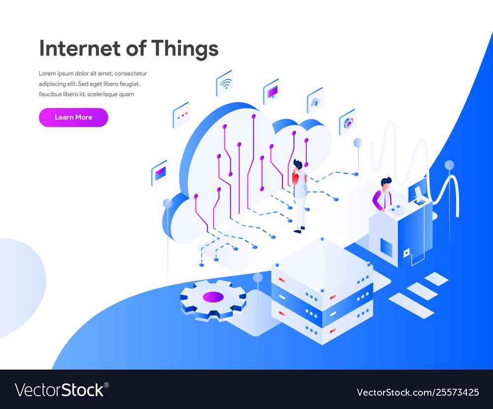 Internet things isometric concept modern flat