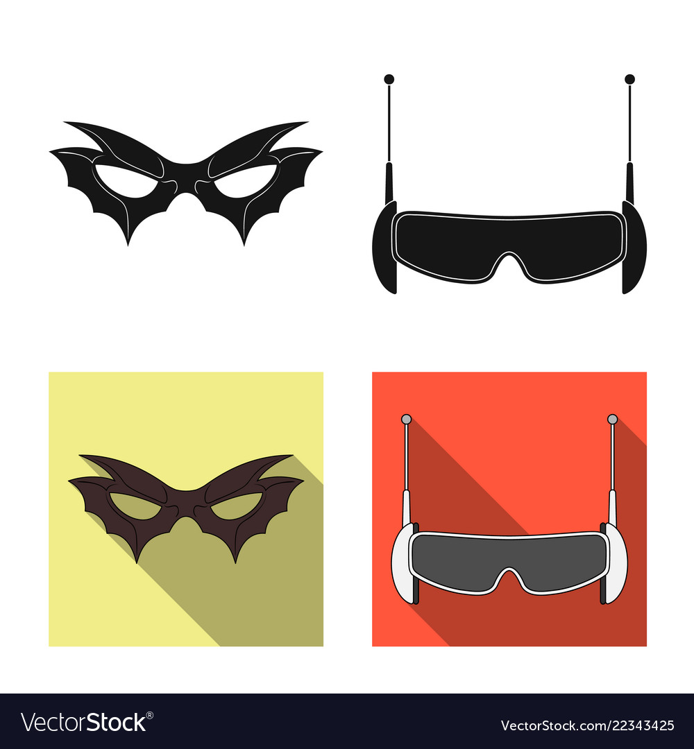 Isolated Object Of Hero And Mask Symbol Royalty Free Vector