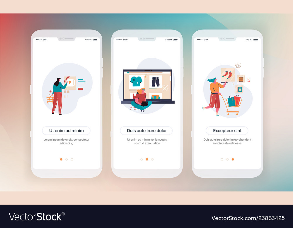 Online shopping design of mobile application