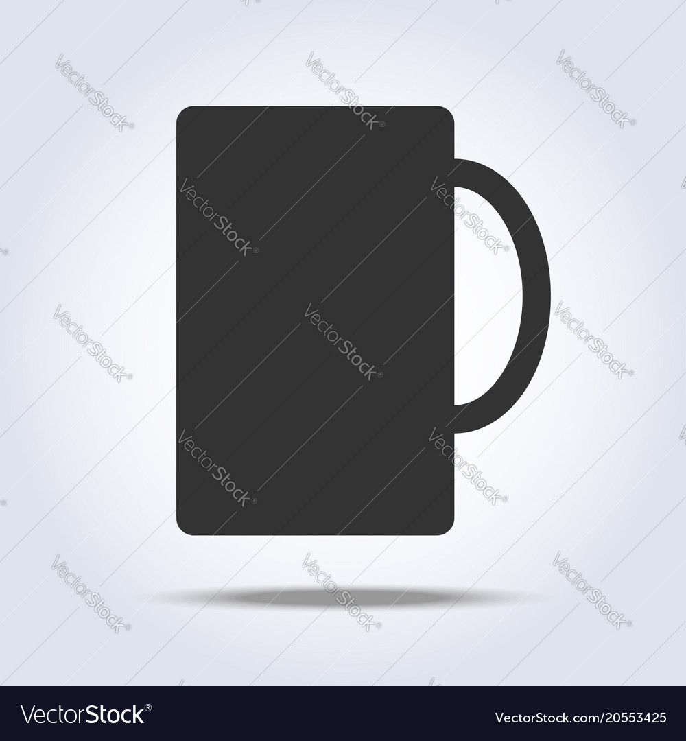 Stylized cup icon gray colors