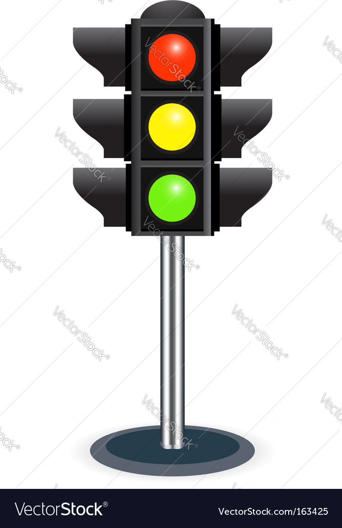 traffic lights royalty free vector image vectorstock